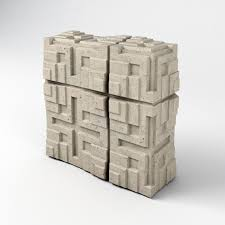100 Millard House Ii Tiles With Corner Elements Frank Llyod Wright 3D Model