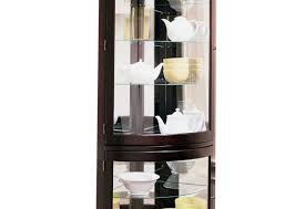 Curio Cabinets Walmart Canada by Cabinet Corner Lighted Curio Cabinet Mahoganycorner Mahogany