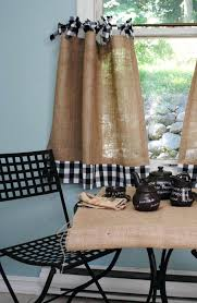 Brylane Home Kitchen Curtains by Burlap Kitchen Curtains Pinterest And Lace Valance Ruffled Double