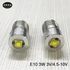 e10 3w 3watt 4v to 12v 10v 9v 6v 4 5v led flashlight bulb torch