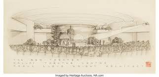 100 Frank Lloyd Wright Sketches For Sale American 18671959 Presentation