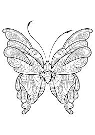 Printable Coloring Pages Of Butterflies Free Kids Cute Butterfly