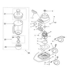 KitchenAid KSB5 Blender Diagram Parts