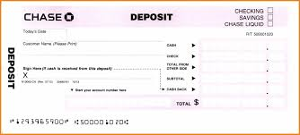 deposit slip template