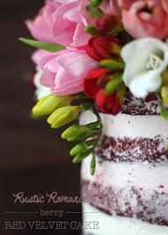 Rustic Romance Berry Red Velvet Cake