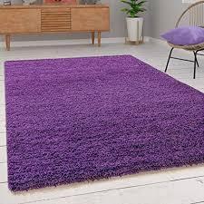 paco home shaggy hochflor langflor teppich sky einfarbig in lila grösse 70x140 cm