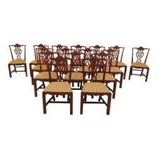 Chippendale Carved Mahogany Dining Room Side Chairs