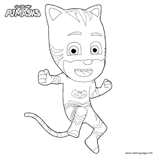 Interesting Design Ideas Pj Masks Coloring Pages Catboy Gecko Fresh Free Printable