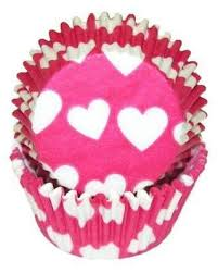 Special Prices On Hot Pink Heart Baking Cupcake Liners Standard Size