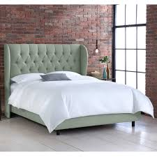 King Size Tufted Upholstered Headboard 38 Cool Ideas For Wingback by Diamond Tufted Wingback Linen Upholstered Bed Hayneedle