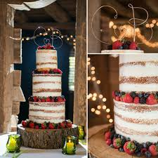 Rustic Naked Berry Cake