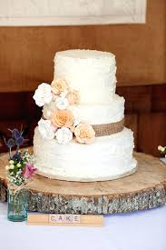 Rustic Wedding Cakes S With Burlap Cake Topper Ideas