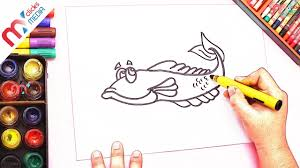 How To Draw Fish Color For Kids Coloring Videos Children My Rhymes