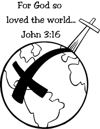 John 3 16 Verse Coloring Pages About JesusGods Love To The World