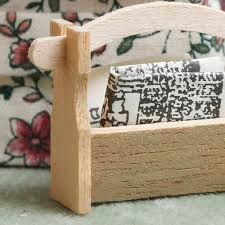 Dollhouse Miniature Newspaper Holder
