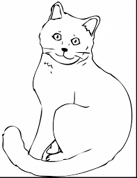 Awesome Cat Coloring Pages Printable With Kitty And Cute Kitten