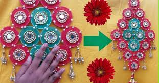 HOW TO MAKE WALL HANGING WITH WASTE MATERIALINENGLISH