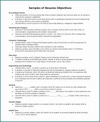 Examples Of Resumes Objectives And 7 Sample Resume Objective