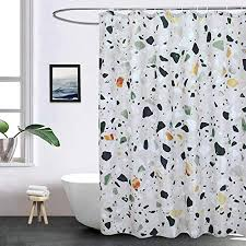 eurcross marmor duschvorhang schimmelfest schimmelresistent maschinenwaschbar modern luxuriös duschvorhänge fürs badezimmer grüner