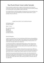 Truck Driver Resume Cover Letters