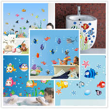 Finding Nemo Bath Set by Underwater Finding Nemo Colorful Fishes Aquatic Plants Cartoon