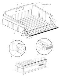 Woods MAV 4X4 Utility Vehicle Utility Vehicle Truck Bed, Plastic ...