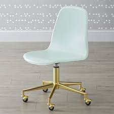 Acrylic Desk Chair On Casters by Pink Gold Class Act Desk Chair The Land Of Nod