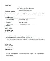Hospice Nurse Resume In Word Registered