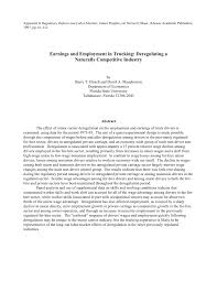100 Trucking Deregulation PDF Earnings And Employment In Deregulating A