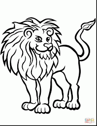 Superb Lion Coloring Pages Printable With Page And For Preschoolers