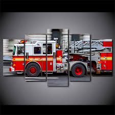 5 Piece Canvas Art HD Printed Fire Engine Canvas Paintings For ...