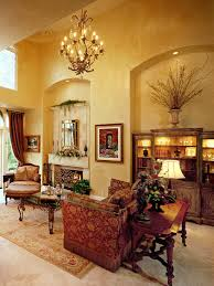 Tuscan Decorating Ideas For Homes by Venetian Plastered Walls Give This Living Room An Old World Tuscan