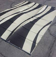 Outdoor Patio Mats 9x12 rv awning mat reversible outdoor rug 9x12 brown tan wave 9x12bw ebay