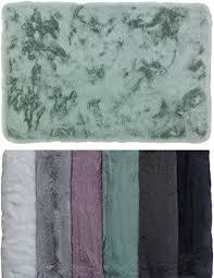 schöner wohnen kollektion badezimmerteppich 60 x 90 cm sehr flauschige badematte mint waschbar und rutschhemmend