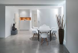 boden im betonlook beton flow modern esszimmer