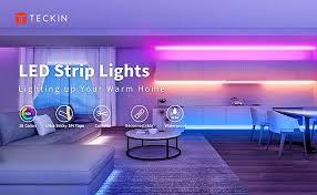 teckin led 5 m led streifen rgb farbwechselnder mit infrarot fernbedienung lichtband selbstklebend led leiste wohnzimmer
