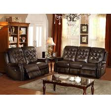 Darrin Leather Reclining Sofa With Console by Eland Brown Glider Recliner Loveseat Overstock Com Shopping