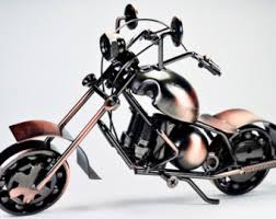 Collectible Art Sculpture Die Cast Harley Davidson Scrap Metal Motorcycle 105 Inch Motorbike Home