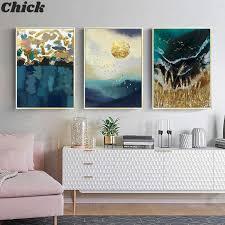 weizen bereich sonne welle abstrakte wand poster landschaft leinwand drucken moderne wohnzimmer bild künstler hause dekoration malerei