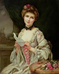 The Love Letter Painting by Francois Martin Kayel