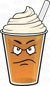 Displeased Frappe Emoji Cartoon Cool Clipart Cold Coffee Banner Transparent Library