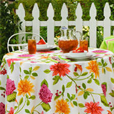 Square Patio Table Tablecloth With Umbrella Hole by Outdoor Living Sunbrella Tablecloth Review