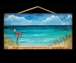 Enjoy Painting The Beach Sign On Our New WOOD PALLET SIGNS