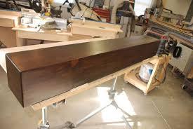 build a rustic faux beam mantel or shelf youtube