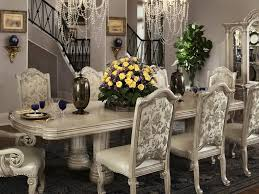 Yellow Purple Flower Dining Table Centerpieces With Chandelier