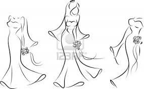 Bride Dress Silhouette Clipart