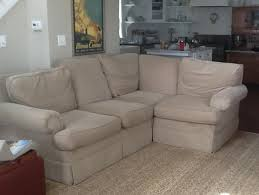 Best Fabric For Sofa Slipcovers by Sectional Slipcover In Natural Duck Cloth The Slipcover Maker