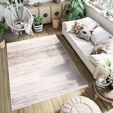 tapiso teppich kurzflor grau beige creme modern boho vintage streifen design meliert wohnzimmer schlafzimmer 120 x 170 cm