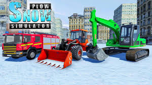 100 Truck Snowblower Excavator Snow Plow City Snow Blower Games For Android APK