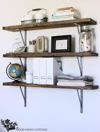 farmhouse flair diy wood storage shelf how to